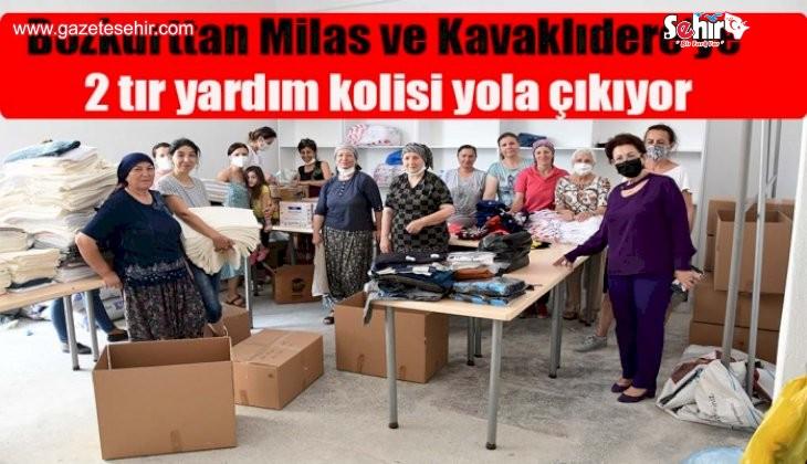 Bozkurt'tan Milas ve Kavaklıdere'ye 2 tır yardım kolisi yola çıkıyor