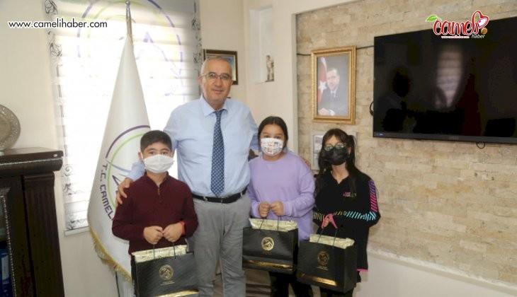 Öğrencilerden Başkan Arslan'a İlköğretim Haftası Ziyareti